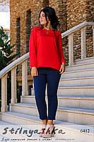Женская шифоновая блузка большого размера красная