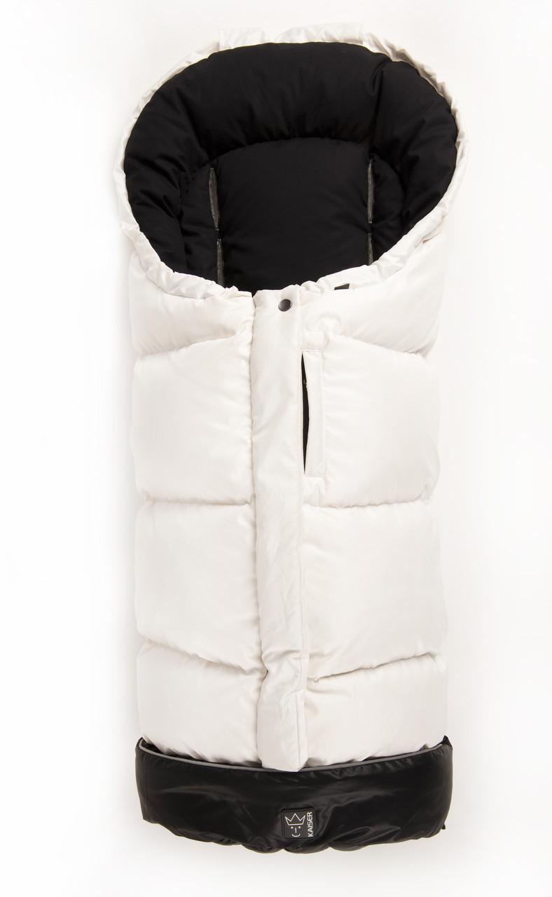 Kaiser - Зимний пуховый конверт Dowwny, цвет бело-черный