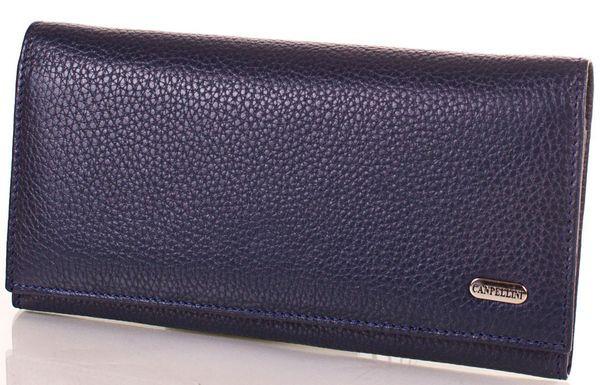 Жіночий синій шкіряний гаманець CANPELLINI SHI346-6FL