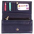 Жіночий синій шкіряний гаманець CANPELLINI SHI346-6FL, фото 6