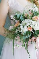Свадебный букет-растрепыш