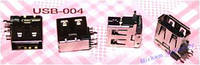 USB разъем (гнездо) для ноутбука USB-004