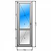 Балконные металлопластиковые двери Lider 3 кам 700*2100, фото 2