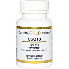 CoQ10 100 mg California Gold Nutrition 30 veggie sofgels