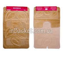 """Комплект ковриков для ванной """"Biege leaf"""""""