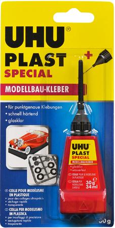 Клей UHU для пластику Plast Spezial з наконечником-голкою - 30г./34мл