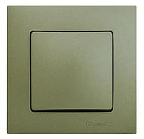 Рамка+клавиша выключателя одинарного, зеленый Lilium Natural Kare Makel