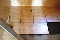 Укладка керамической плитки в бане или сауне