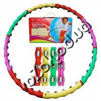 Массажный обруч Хула-Хуп Massage Hoop Boyu-1108 колёсики с шипами и магнитные шарики, фото 1