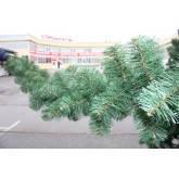 Гирлянда хвойная новогодняя 270 см 28 см в диаметре, иголки леска ПВХ Италия, трубчаты пушистый ствол, многояр