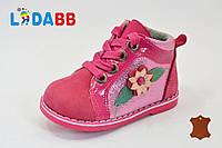 Ботинки детские для девочки кожаные весна осень, 19-23