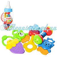 Набор погремушек в бутылочке (погремушка в бутылочке): 5 штук в комплекте (4 штуки прорезыватели)