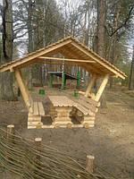 Альтанка деревянная в сад под заказ