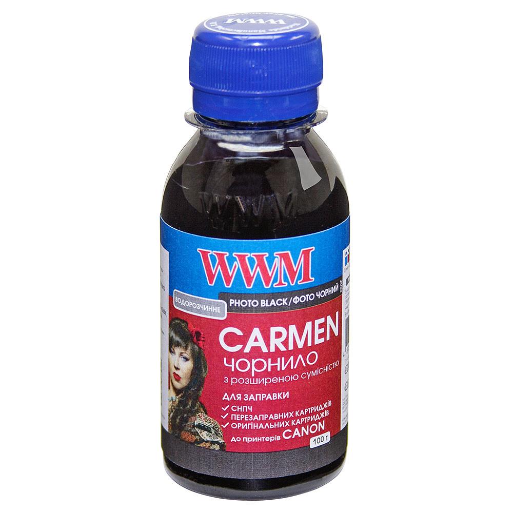 Чернила WWM CARMEN для Canon 100г Photo Black Водорастворимые (CU/PB-2) с расширенной совместимостью