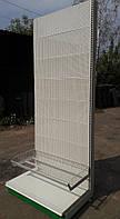 Перфорированные торговые стеллажи бу. Высота 2,4 метра!, фото 1