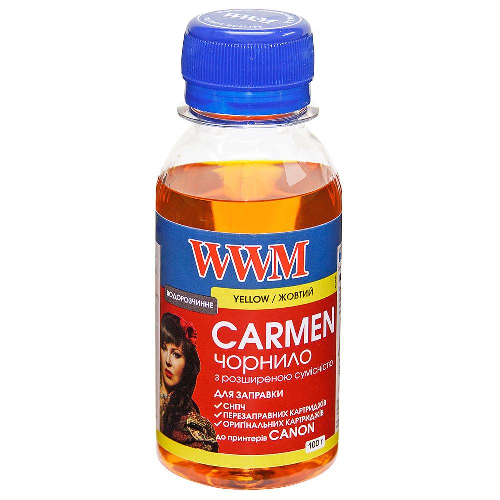 Чернила WWM CARMEN для Canon 100г Yellow Водорастворимые (CU/Y-2) с расширенной совместимостью