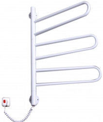 Электрический полотенцесушитель белого цвета от производителя Elna модель Флюгер-3 поворотный