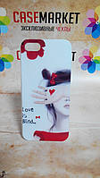 Пластиковый бампер панель накладка для iPhone 5/5S с рисунком Love is blind