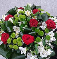 """Букетиз роз,хризантем альстромерии """"Любмилка"""""""