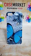 Чехол пластиковый бампер для iPhone 5/5S с рисунком Бабочка