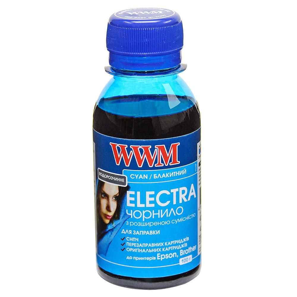 Чернила WWM ELECTRA для Epson 100г Cyan Водорастворимые (EU/C-2) с расширенной совместимостью