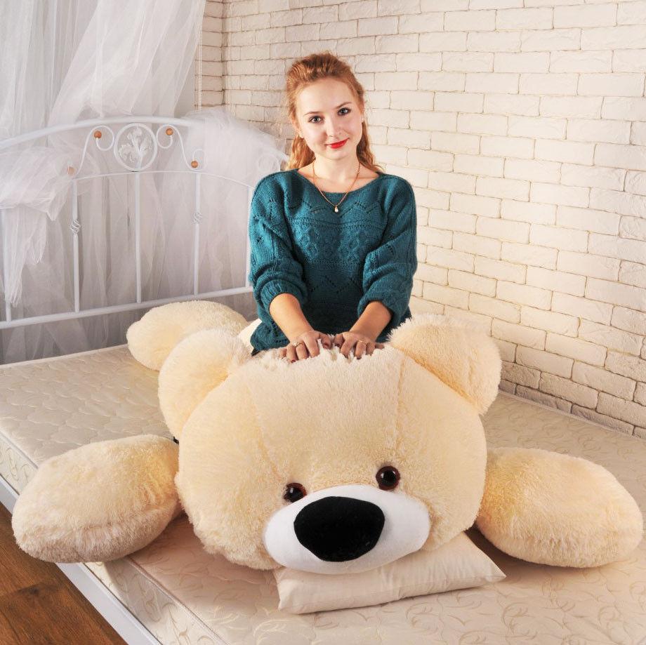 Большая мягкая игрушка медведь Умка 180 см персиковый, фото 2