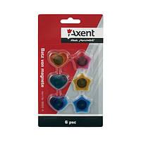 Набор магнитов Axent в цветном пластиковом корпусе, фигурные, диаметром 25 мм.(6 шт) 9822-А
