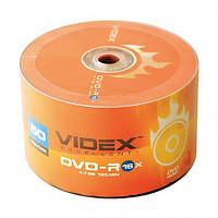 Диски Videx DVD-R 4.7Gb 16x bulk 50