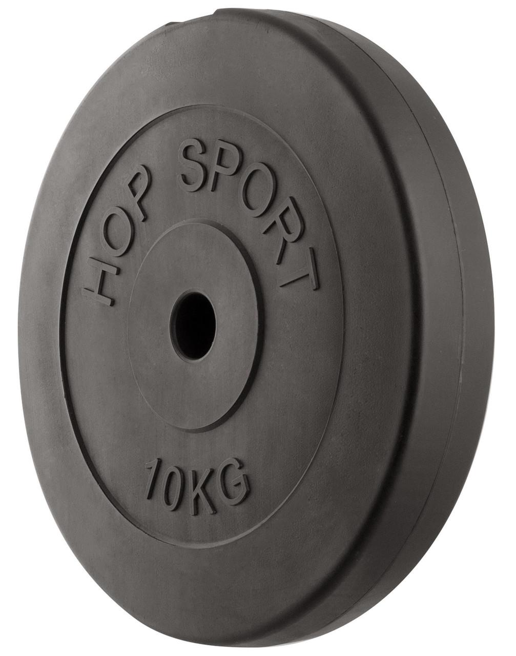 Блин диск для штанги или гантель 10 кг (30мм в пластике)