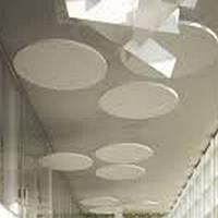 Подвесные акустические острова AMF TOPIQ Sonic Element, круглый, цвет белый, толщина 40 мм