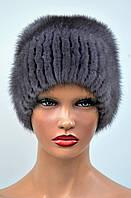 """Женская шапка норковая """"Шарик-листок"""", фото 1"""
