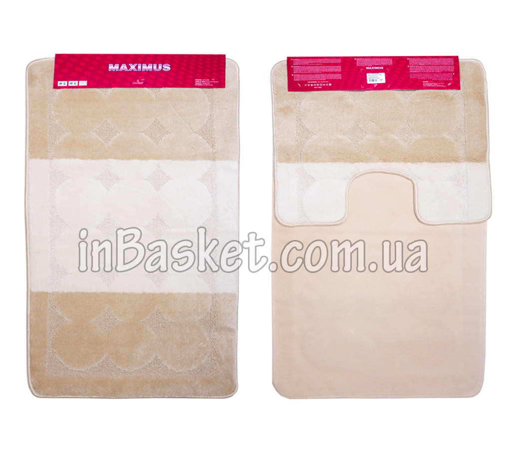 "Комплект ковриков для ванной ""Biege & White"""