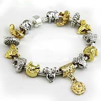Браслет Pandora  (Пандора). Золото и серебро!