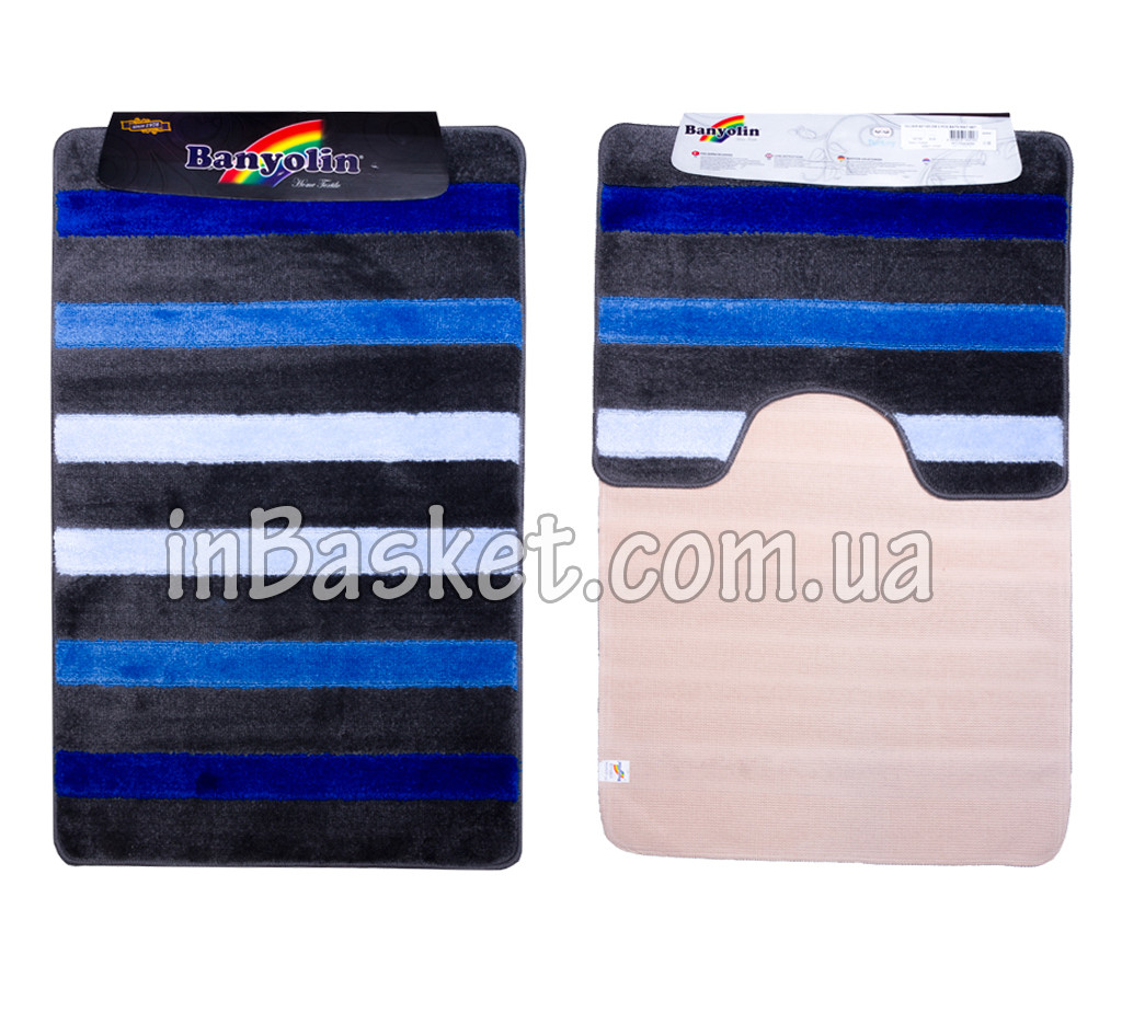 "Комплект ковриков для ванной ""Striped blue"""