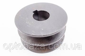 Шкив 2 ручейный под вал 25 мм для мотопомп (9,0 л.с.), фото 2
