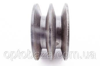 Шкив 2 ручейный под вал 25 мм для мотопомп (9,0 л.с.), фото 3