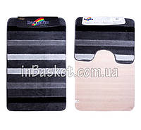 "Комплект ковриков для ванной ""Striped dark"""