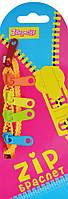 Браслет детский зиппер одноцветный, 45см, в ящ. mix 4 цвета940192