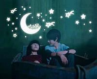"""Интерьерная виниловая наклейка детская на стену светящаяся """"Звездное небо"""", фото 1"""
