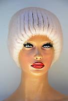 """Женская шапка норковая """"Шарик-коса"""", фото 1"""