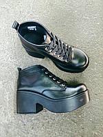 Ботинки черные натуральная кожа и лак.кожа