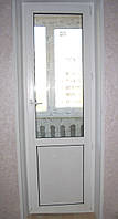 Балконные металлопластиковые двери Lider 3 кам 700*2100