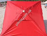 Зонт торговый, садовый 2.5х2.5м (Серебро+Клапан). Мощный зонт для уличной торговли!