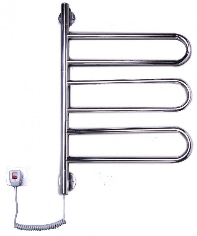 Электрический полотенцесушитель для ванной комнаты от производителя Elna Флюгер-3 поворотный нерж.