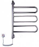 Электрический полотенцесушитель для ванной комнаты от производителя Elna Флюгер-3 поворотный нерж., фото 1