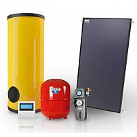 Гелиосистема горячего водоснабжения на 150 литров в сутки на плоских солнечных коллекторах