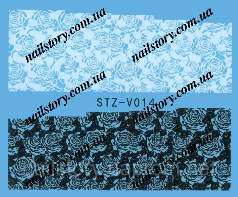 Водные наклейки для ногтей STZ014
