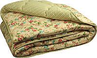 """Теплое  одеяло """"English style"""" из чесаной овечьей шерсти, двуспальное."""