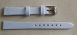 14 мм. Ремінець шкіряний Verona (Італія) Білий лак, фото 2
