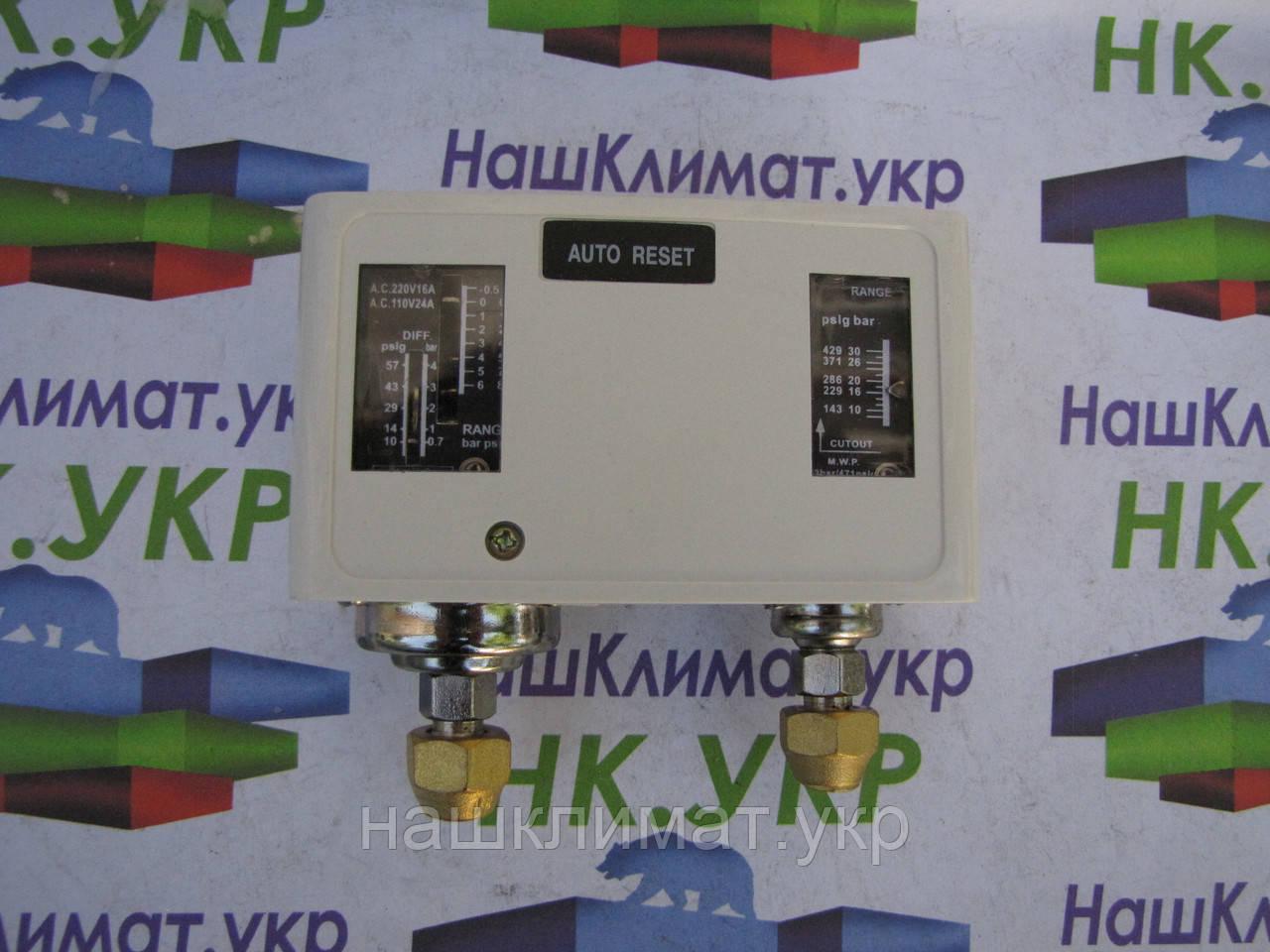 Реле давления YK306 сдвоенное автоматическое для холодильных установок и агрегатов, фото 1
